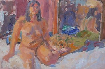 John Harvey Original Oil Painting Of A Nude Lady St Ives Society of Artists
